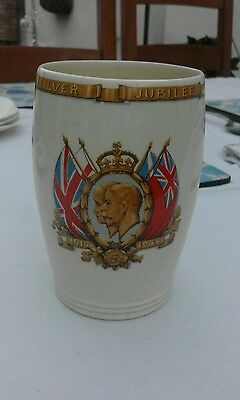 Royal commemorative mug. King George V & Queen Mary. Silver jubilee 1910- 1935