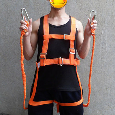 FALL PROTECTION Safety Belt Full Body Construction Harness Protective Gear