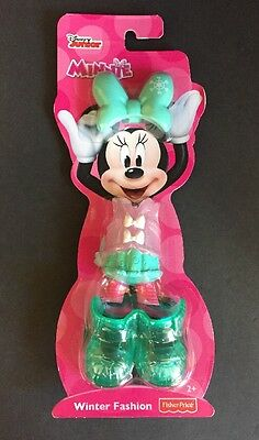 """Fisher-Price Disney Junior Minnie Mouse """"Winter Fashion"""" Clothing"""