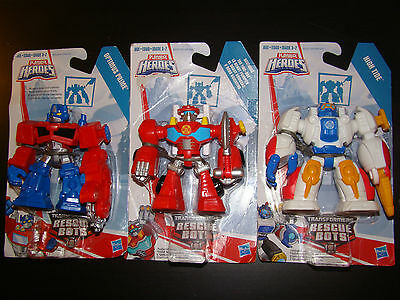 Transformers Action Figure Lot Optimus Prime High Tide Heatwave Playskool Heroes