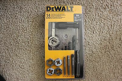 DeWalt Fractional Tap and Large Hexagon Die Set 14 Piece SAE  DWA1452