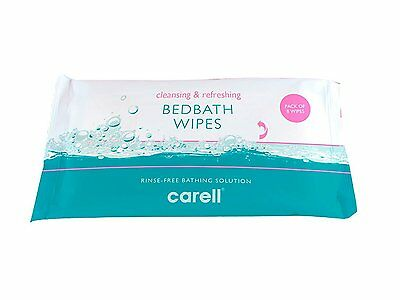 10 x Clinell® Bedbath Bed Bath Patient Wipes Pack of 8 Moisturising Bathing and