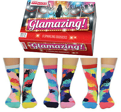 Ladies Holly Cat Oddsocks Pack 3 Socks Colourful Kitty Quirky Mix /& Mismatch!