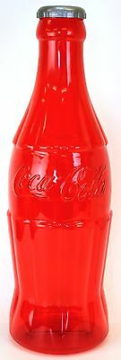 HUGE  23 Inch RED Coke Coca Cola Licensed Bottle Bank