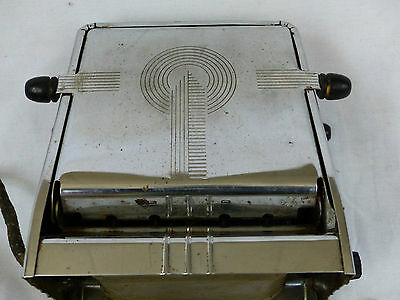 antique toaster westinghouse model tla-4 drop door old kitchen art deco retro