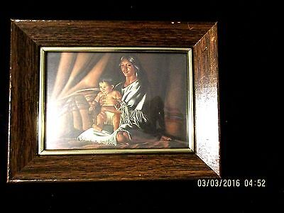 Native American Woman With Child -   Framed
