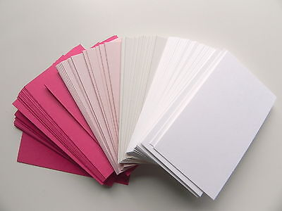 """100 ct. Assorted Blank Business Cards -White, Blush, Pink, Peony- 2""""x3.5"""""""