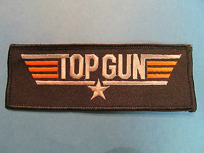 Top Gun Fighter Pilot  1980's Movie Tom Cruise Sew On Flight Suit Patch Crest A