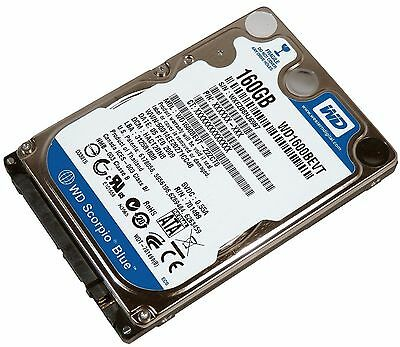 "Western Digital WD1600BEVT 160 GB Internal 5400 RPM 2.5"" Laptop Hard Drive"