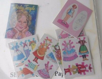 Shirley Temple Miniature Paper Dolls Dollhouse Miniatures Artist 1980 1""