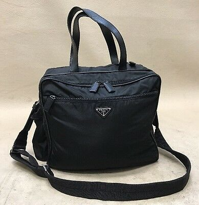 1daf4fc11fb9 PRADA Tessuto Diaper Bag Messenger Style in Black VS059S Made In Italy
