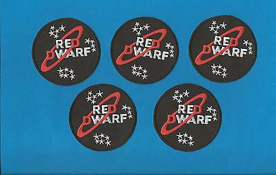 5 Lot Red Dwarf BBC T.V. Show Collectable Embroidered Jacket Hoodie Hat Patches