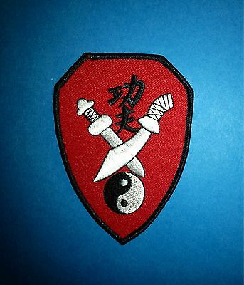 Kung Fu Martial Arts MMA Iron On Uniform Gi Hat Patch Crest A