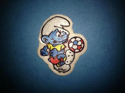 Rare Vintage 1980's Smurf Soccer Iron On Hat Jacket Hoodie Backpack Patch Crest
