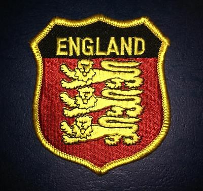 England Shield Flag Patch Hat Jacket Biker Vest Backpack Travel Crest Patch