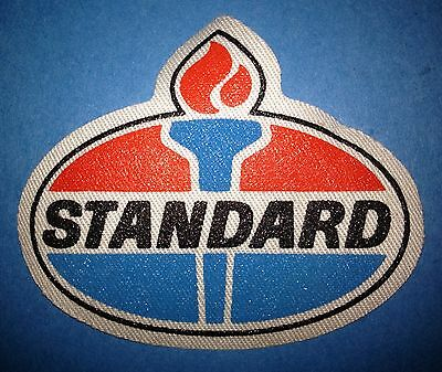 Rare 1990's Standard Oil Racing Sponsor Hat Jacket Iron On Patch Crest A