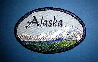 Vintage Aaska USA Hat Jacket Hoodie Biker Vest Backpack Travel Patch Crest