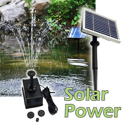 Solar Power Fountain Submersible Water Pump Garden Pond Pool Outdoor Kit Panel