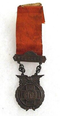 1908 5Th Encampment United Spanish Am War Cets Dept Of Ny W&h Tag On Ribbon