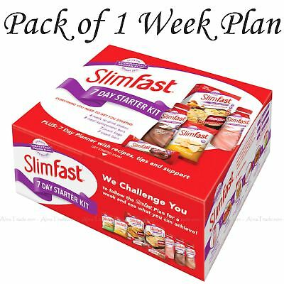 SlimFast Body Weight Loss 7 Day Diet Starter Kit One Week Trial Slim Fast Pack
