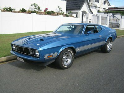 1973 Ford Mustang Mach 1 Blue Automatic 3sp A Fastback