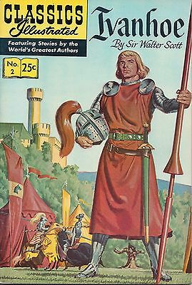 Classics Illustrated Comic - Ivanhoe By Sir Walter Scott - Number 2 - 1971