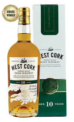 West Cork 10 Year Old Single Malt Irish Whiskey 700ml