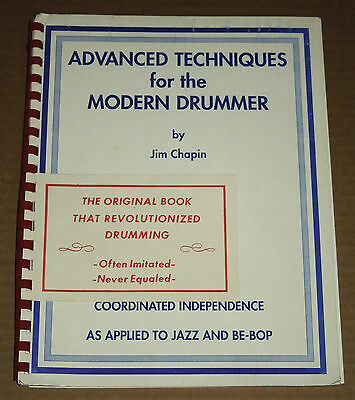 Jim Chapin Advanced Techniques for the Modern Drummer Volume 1 NICE SPIRAL BOUND