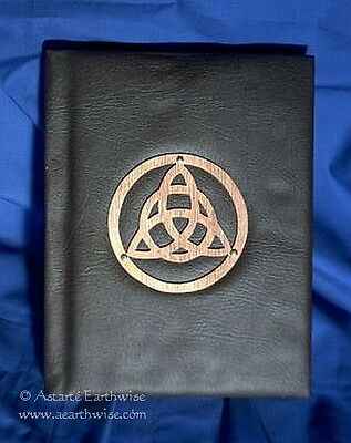 BOOK OF SHADOWS 30x24cm Wicca Pagan Witch Goth SYNTHETIC LEATHER WITH TRIQUETRA