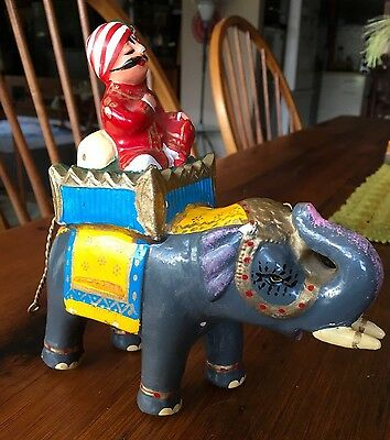 Vintage Air India Maharaja Carnival Elephant Bombay India Hand Painted Ameya Ind