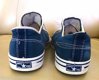 Made In Usa Vintage Converse Straight Shooter Blue Canvas Blue Label 13 Us Men
