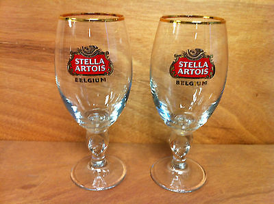 Stella Artois Glass BELGIUM Beer 33 cl Glass Chalice NEW Set Of Two(2) ~ 2016 FS