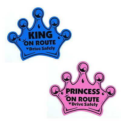 Baby Crown on Route Magnet  Baby on Board Car Window Sign