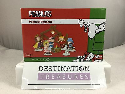 Dept 56 PEANUTS NATIVITY Pageant SET 8 Pc Charlie Brown Snoopy Peppermint Patty