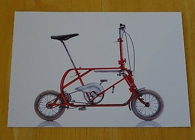 Cyclepedia Postcard ~ Iconic Bicycles ~ T&c Pocket Bici ~ Italy, 1963 ~ New