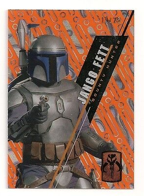 2016 Star Wars High Tek #sw-25 Jango Fett #/25 Orange Magma Diffractor #19/25