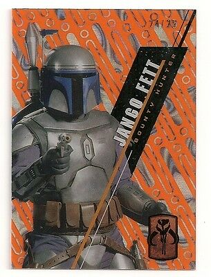 2016 Star Wars High Tek #sw-25 Jango Fett #/25 Orange Magma Diffractor #24/25