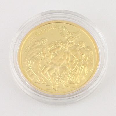 Gold Medaille The Holy Threesome 585 Gold mit Kapsel Anlagegold Wertanlange