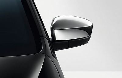 NEW GENUINE VW UP! ACCESSORY CHROME WING DOOR MIRRORS TRIM SET - Mii CITIGO