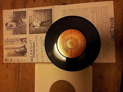 BREAKOUT with cover WALL OF SOLITUDE rare NEAR MINT north east punk single