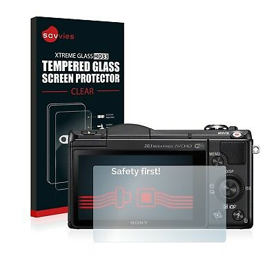 Savvies Tempered Glass Screen Protector for Sony Alpha 5000 (DSLR-A5000)