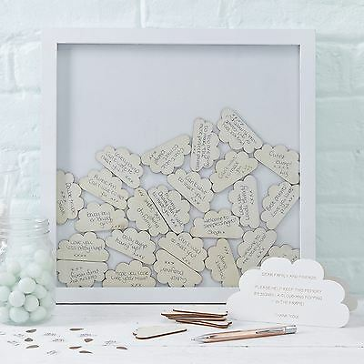Ginger Ray Cloud Drop Top Frame Baby Themed Guest Book