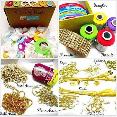 Silk thread jewelery-making fully loaded box with all accessories 9850