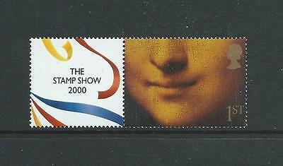 2000, THE STAMP SHOW 2000 1st MONA LISA WITH LABEL Ex SHEET SUPERB U/M