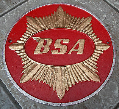 Superb Heavy Cast Iron Bsa Gold Star Motorcycles Sign Or Plaque