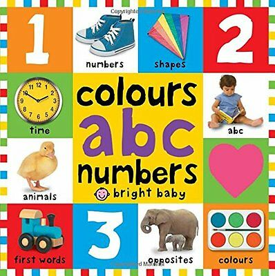 First Colours ABC Numbers Children Books Early Learning Board Toddlers Baby New