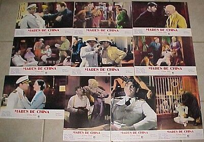 Clark Gable Jean Harlow 10 lobby cards re-release China Seas 1982