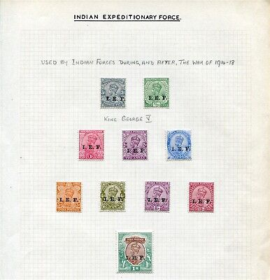 INDIA CHINA EXPEDITIONARY FORCE STAMPS EDWARD 7th GEORGE 5th