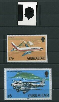 Gibraltar Queen Elizabeth Harrisons Artwork 1982 Definitives Aviation