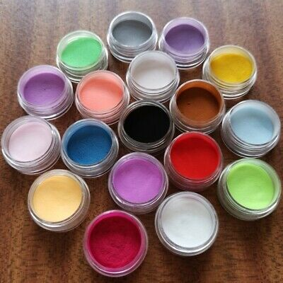 Nail Art Dust 18 Colours Acrylic Nail Powder Decoration